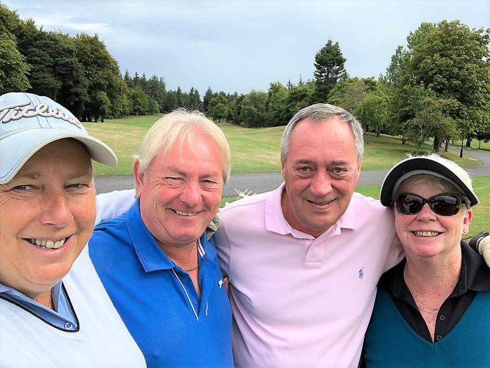 Tracy and the guys from Chorley Golf Club