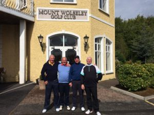 Mike and the boys are over from Whitchurch - Cardiff Golf Club